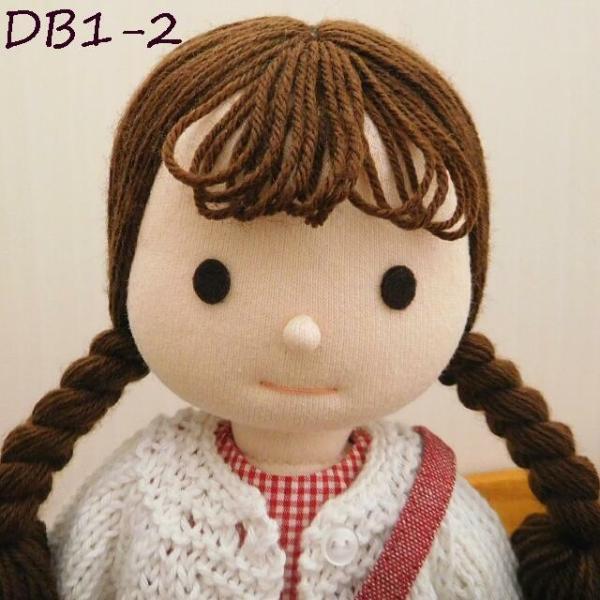 手作り 布製 着せかえ 人形 ギンガムワンピース- 半袖カーディガン 女の子 着せ替え セット 34cmサイズ|mixjam-store|13