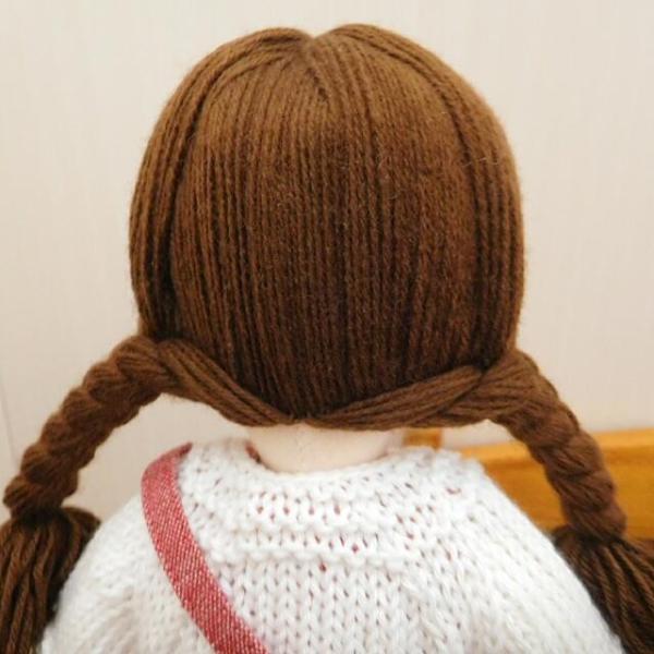 手作り 布製 着せかえ 人形 ギンガムワンピース- 半袖カーディガン 女の子 着せ替え セット 34cmサイズ|mixjam-store|14