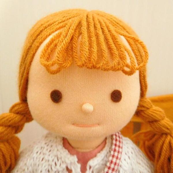 布のお人形 着せ替え 28cmサイズ 人形 ピンクのワンピース カーディガン セット|mixjam-store|02