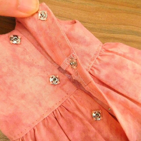 布のお人形 着せ替え 28cmサイズ 人形 ピンクのワンピース カーディガン セット|mixjam-store|11