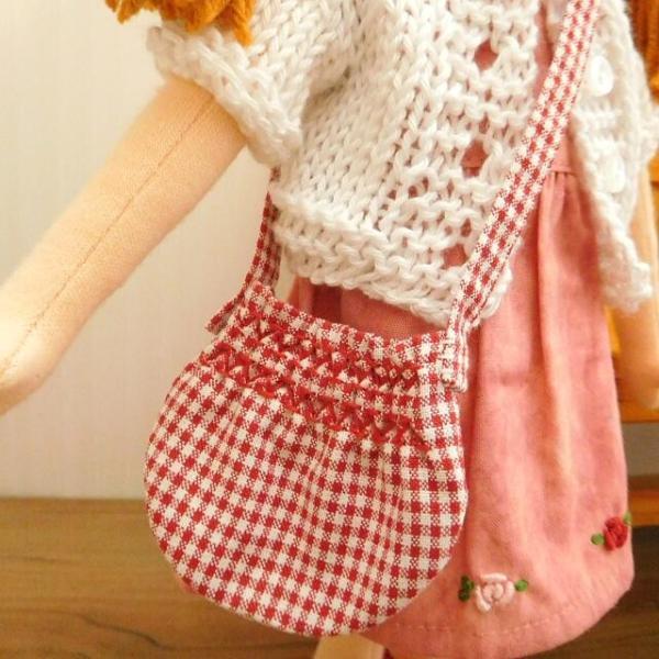 布のお人形 着せ替え 28cmサイズ 人形 ピンクのワンピース カーディガン セット|mixjam-store|05