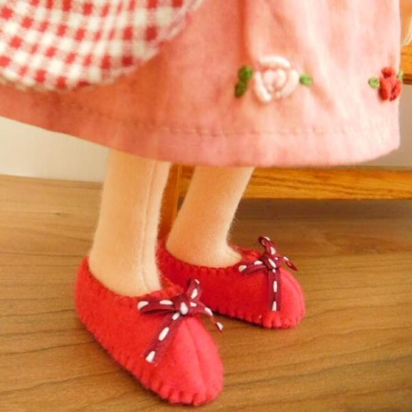 布のお人形 着せ替え 28cmサイズ 人形 ピンクのワンピース カーディガン セット|mixjam-store|06