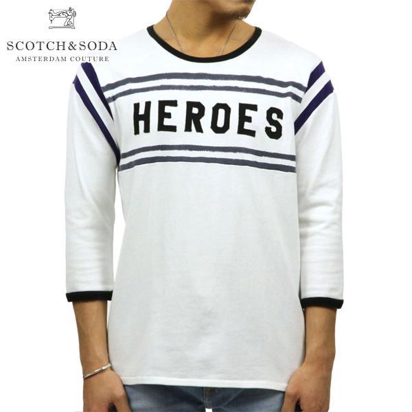 スコッチアンドソーダ Tシャツ メンズ SCOTCH&SODA 正規販売店 七分袖 VINTAGE SPORTS T-SHIRT 134298 17 COMBO A|mixon