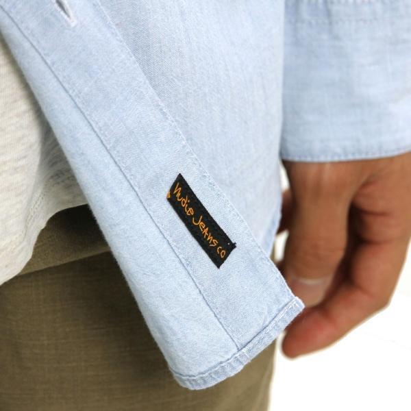 【ポイント10倍 12/12 0:00〜12/13 23:59まで】 ヌーディージーンズ シャツ メンズ Nudie Jeans 正規販売店 長袖 STANLEY SHIRT DENIM B26 140471 mixon 08