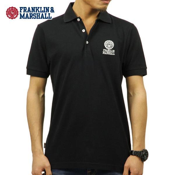 【ポイント10倍 9/25 0:00〜9/25 23:59まで】 フランクリンマーシャル ポロシャツ メンズ FRANKLIN&MARSHALL 正規販売店 半袖 POLO SHIRT BLACK POMF13|mixon