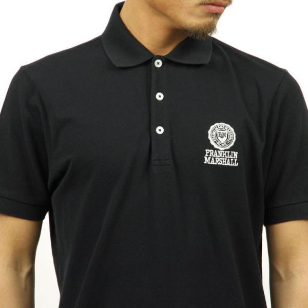 【ポイント10倍 9/25 0:00〜9/25 23:59まで】 フランクリンマーシャル ポロシャツ メンズ FRANKLIN&MARSHALL 正規販売店 半袖 POLO SHIRT BLACK POMF13|mixon|05