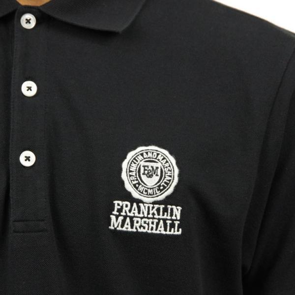【ポイント10倍 9/25 0:00〜9/25 23:59まで】 フランクリンマーシャル ポロシャツ メンズ FRANKLIN&MARSHALL 正規販売店 半袖 POLO SHIRT BLACK POMF13|mixon|07