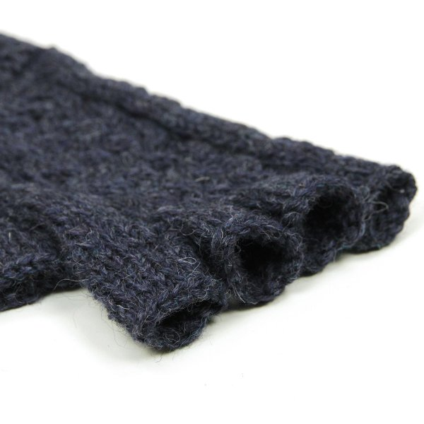 【エントリーで10%付与 3/30 0:00〜3/31 23:59】 ブラックシープ BLACK SHEEP メンズ 手袋 HAND MADE FINGERLESS CABLE KNIT GLOVE SB08B DENIM MIX|mixon|06