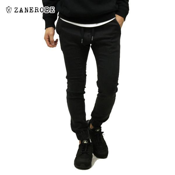 ゼンローブ ジョガーパンツ メンズ 正規販売店 ZANEROBE シュアショット ボトムス デニム SURESHOT DENIM JOGGER PANTS MILLED BLACK 713JP-FT|mixon
