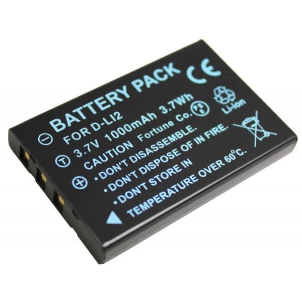 TKG』ペンタックス D-LI2 互換バッテリーOptio 330/430RS等対応