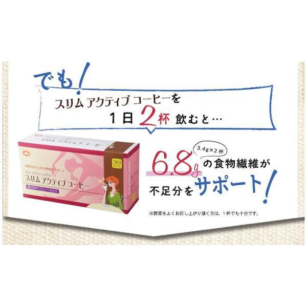 スリムアクティブコーヒー 30包入 ダイエットコーヒー 食物繊維 ガルシニアエキス 黒大豆 ポリフェノール インスタントコーヒー|miyabi-store|07