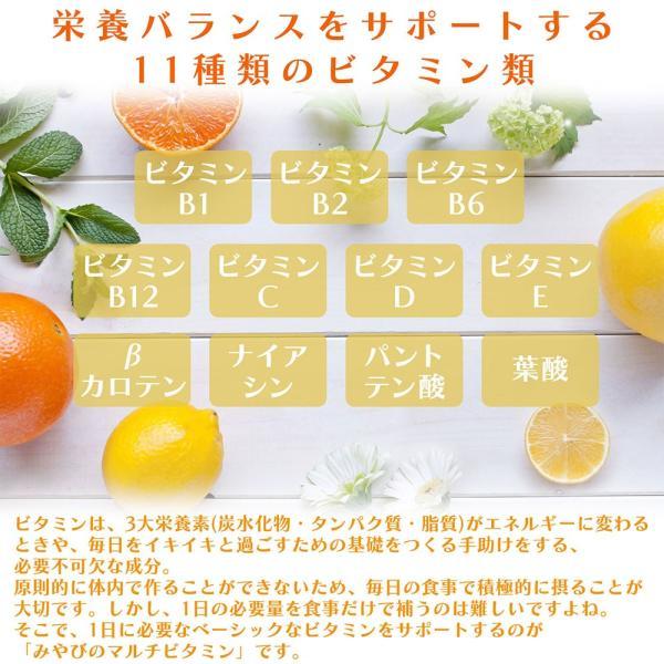 みやびのマルチビタミン 1袋60粒入り×3袋セット ビタミンC、葉酸、ビタミンAなど11種類のビタミン配合|miyabi-store|05