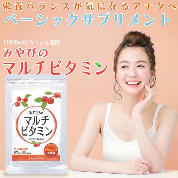 みやびのマルチビタミン 1袋60粒入り×3袋セット ビタミンC、葉酸、ビタミンAなど11種類のビタミン配合|miyabi-store|10