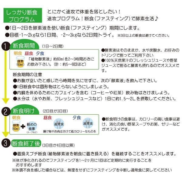 新みやび植物酵素液 プチ断食 ファスティングダイエット 720ml|miyabi-store|05