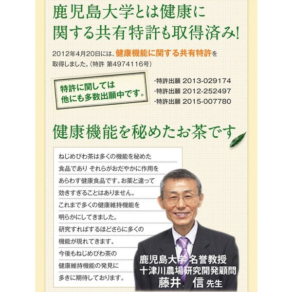 十津川農場 ねじめびわ茶 2g*31包 鹿児島大学と共同研究の国産ビワ茶|miyabi-store|13