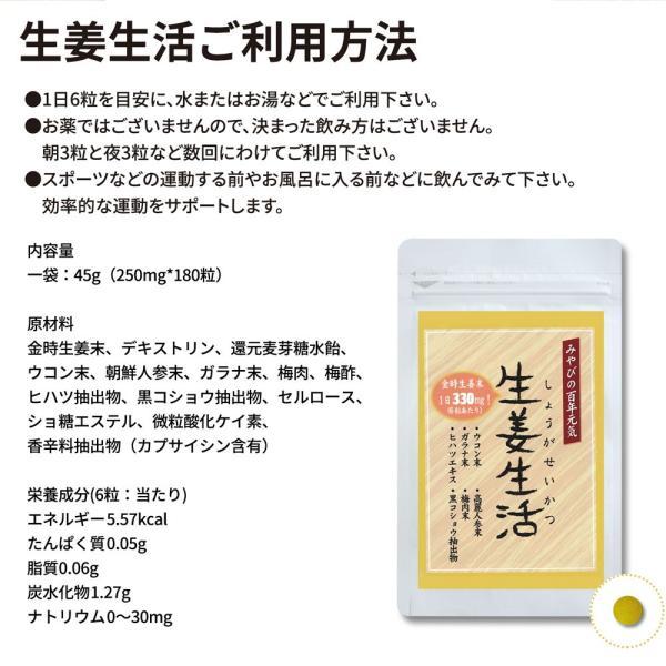 金時しょうがサプリ 生姜生活 メール便なら送料324円|miyabi-store|07