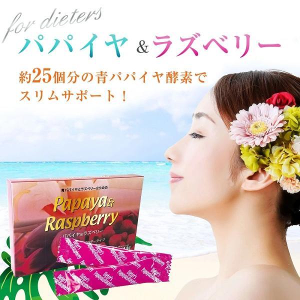 青パパイヤ酵素のチカラ パパイヤ&ラズベリー ダイエットサポート|miyabi-store