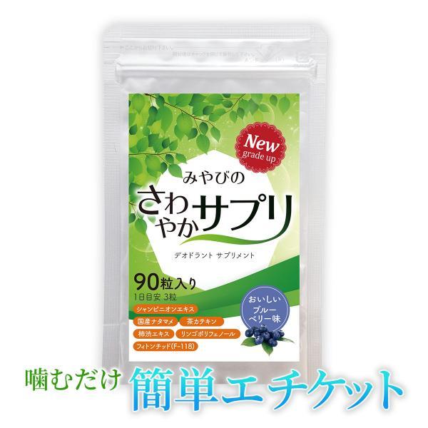 爽臭サプリ 口臭 体臭 加齢臭対策に 最近話題の 消臭サプリはみやびの爽臭サプリ メール便なら送料324円|miyabi-store
