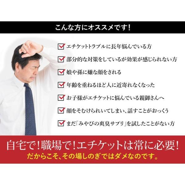 爽臭サプリ 口臭 体臭 加齢臭対策に 最近話題の 消臭サプリはみやびの爽臭サプリ 2袋セット|miyabi-store|16