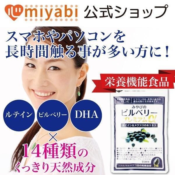 ビルベリープレミアムα ルテイン&ビタミンA配合 3袋セット メール便なら送料324円 目のサプリメント 栄養機能食品|miyabi-store|02
