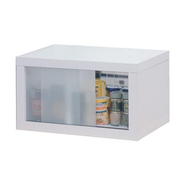 キッチン収納 スパイスラック 小物ラック キッチン収納  / 両面ガラス戸付カウンターラック45|miyaguchi