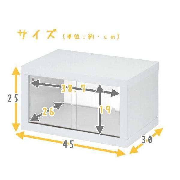 キッチン収納 スパイスラック 小物ラック キッチン収納  / 両面ガラス戸付カウンターラック45|miyaguchi|03