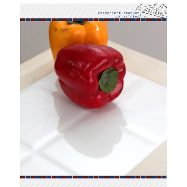 キッチンストッカー 桐 収納ストッカー キャスター付き キッチン収納  / キッチンストッカー3段|miyaguchi|05