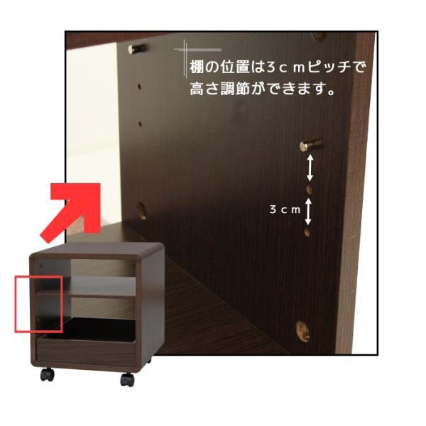 サイドテーブル キャスター付き 木製  万能ワゴン シンプルミニボード|miyaguchi|04