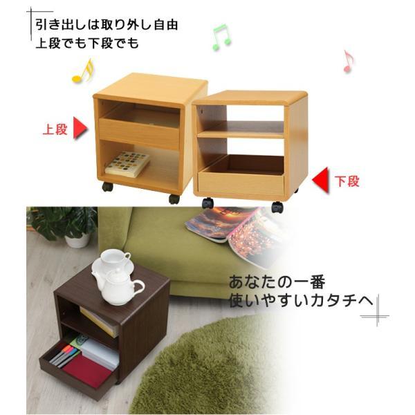 サイドテーブル キャスター付き 木製  万能ワゴン シンプルミニボード|miyaguchi|05