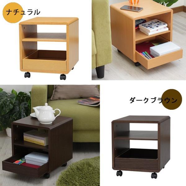 サイドテーブル キャスター付き 木製  万能ワゴン シンプルミニボード|miyaguchi|06