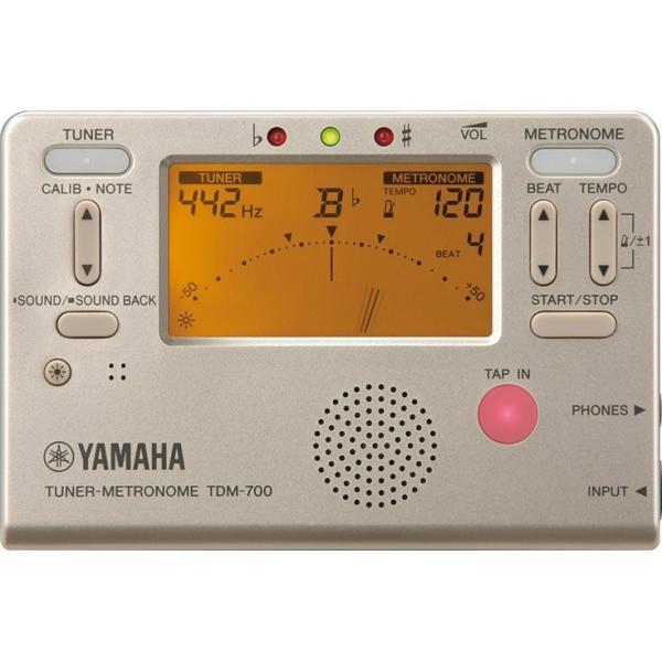 ヤマハ YAMAHA チューナーメトロノーム TDM-700G ゴールド