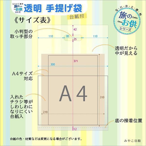 なにかと便利〈旅のお供〉シリーズ「透明 手提げ袋」台紙付 miyakobiyori 02