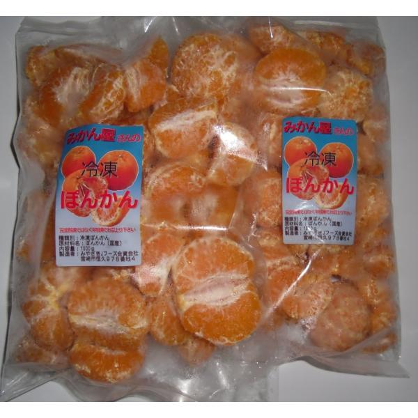 訳あり 冷凍ポンカン(ぽんかん) 宮崎県産みかん ご自宅用 ご家庭用 2kg(1kg×2袋)