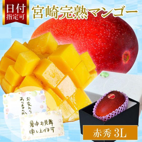 宮崎完熟マンゴー 8月上旬頃までの発送となります  宮崎産 完熟 極上 朝採れ 送料無料 贈答 フルーツ ギフト 秀品-極上玉(赤秀)特大サイズ×1玉 ランキング