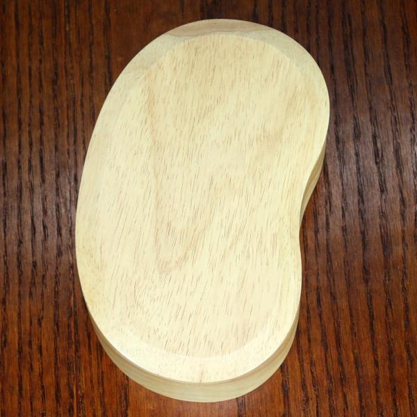 天然木製 くりぬき そらまめ弁当箱(大) 白木 ラバーウッド 送料無料|miyoshi-ya|05