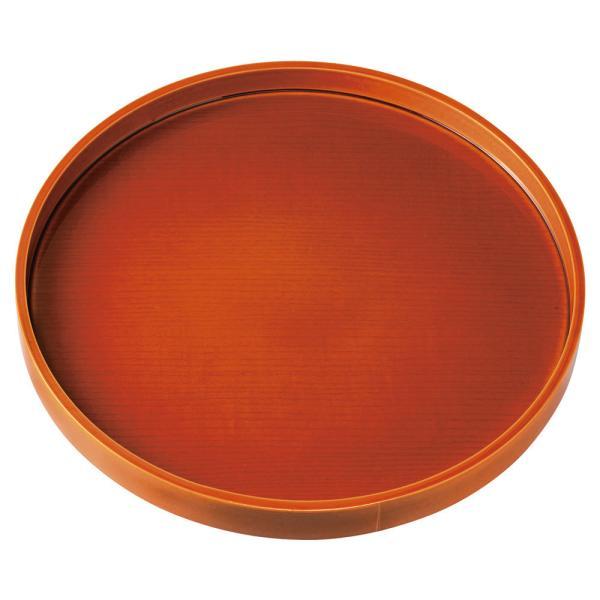 紀州塗り お盆 トレー 10寸 30cm 丸盆 春慶塗 和風 和室 おしゃれ 木目調 トレイ 日本製