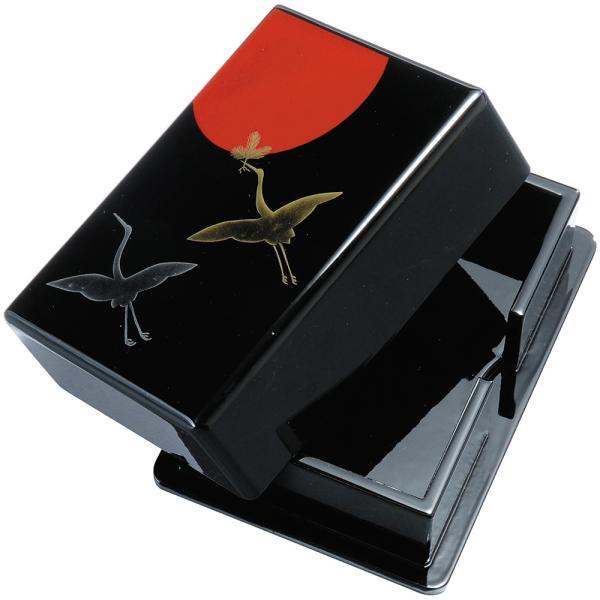 紀州塗り 黒 日の出鶴 名刺入れ 名刺ケース 名刺ホルダー ボックス カード入れ カードホルダー