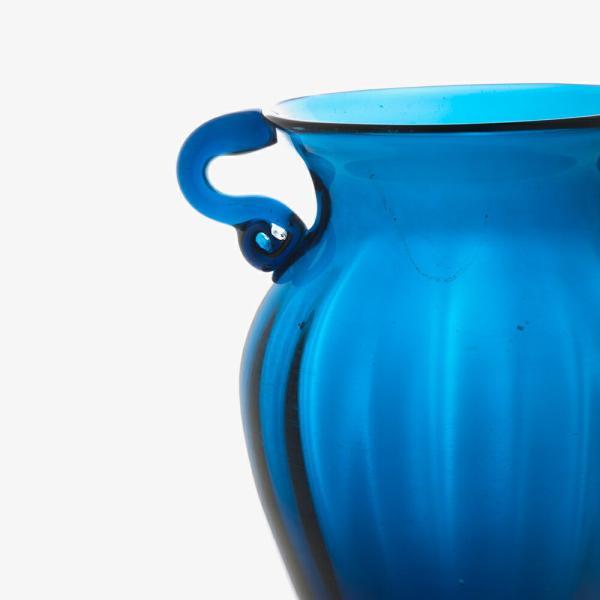ガラス花瓶 ダブルイヤー ブルー フラワーベース 小|miyoshi-ya|03