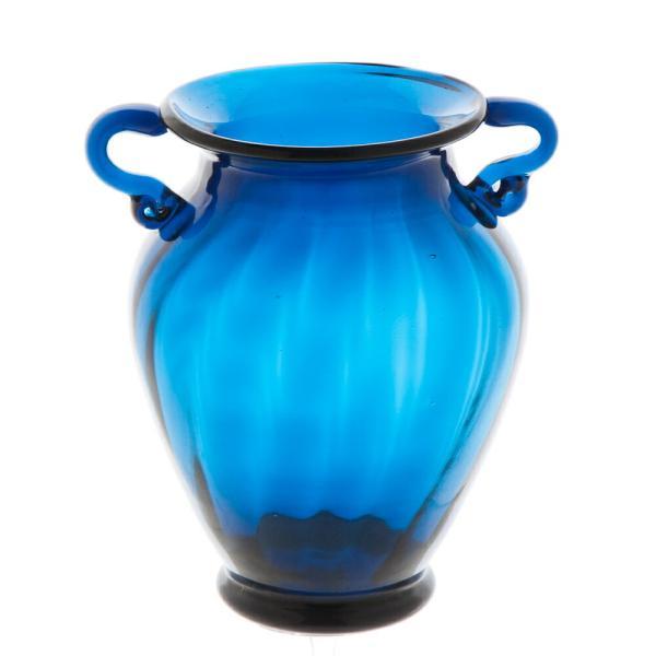 ガラス花瓶 ダブルイヤー ブルー フラワーベース 大|miyoshi-ya|02