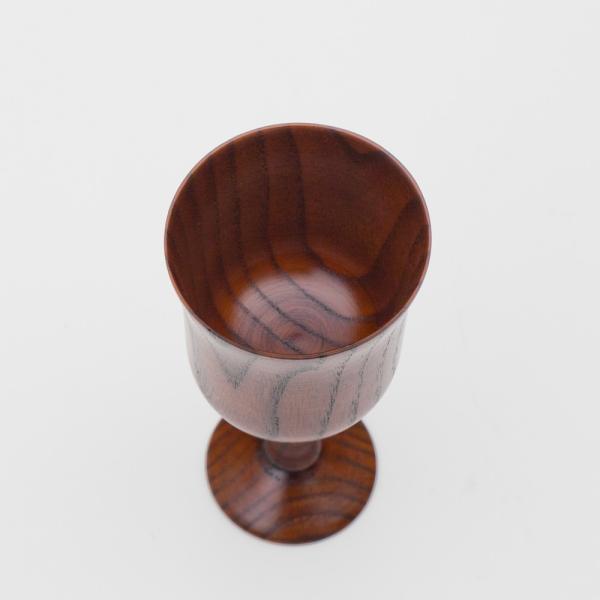 天然木製 ワイングラス 木目 漆塗り|miyoshi-ya|02