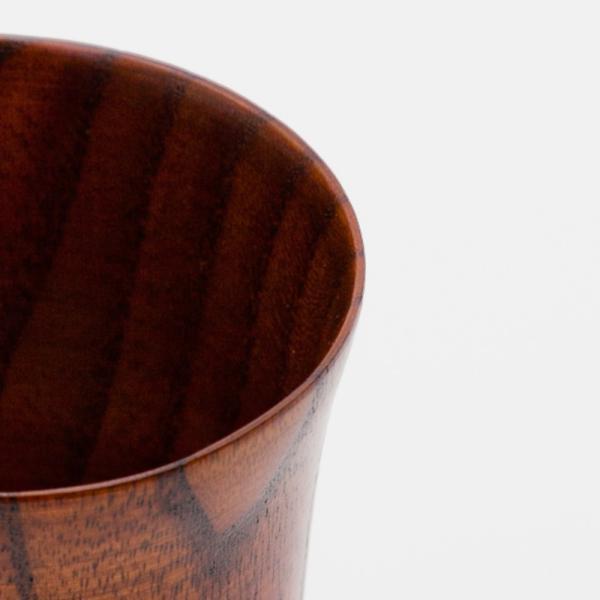 天然木製 ワイングラス 木目 漆塗り|miyoshi-ya|06