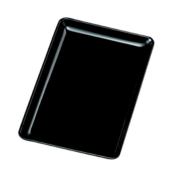 切手盆 紀州塗り 日本製 お盆 トレー おしゃれ 7寸 21cm 布目 木質 黒 おぼん とれい 国産小さい