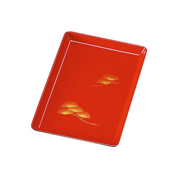日本製 紀州塗り 切手盆 7寸 21cm お盆 トレー 和 おしゃれ 木質 朱 松 祝儀盆 進物盆 お祝い 国産