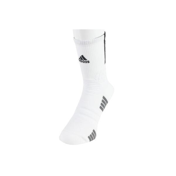 ■バスケ ソックス アディダス adidas CREATOR 365 クルーソックス ホワイト/ブラック EH8741