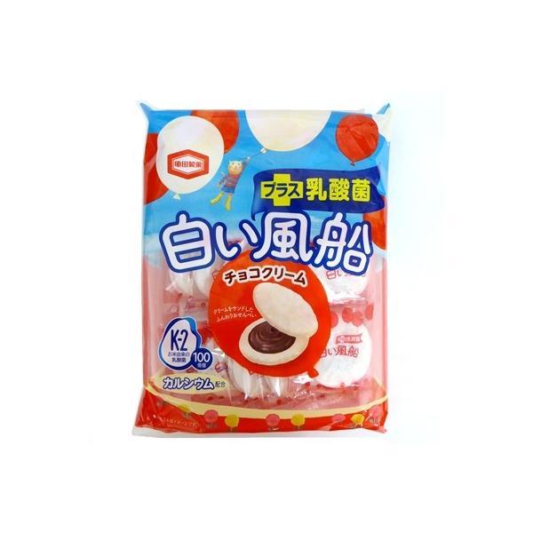 白い風船 プラス乳酸菌 チョコクリーム【亀田製菓】チョコサンドソフトせんべい