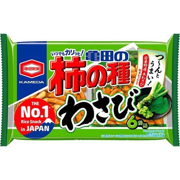 亀田の柿の種 わさび 173g 亀田製菓  6袋詰