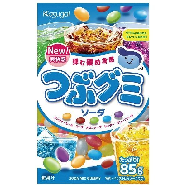 つぶグミ ソーダ 【春日井製菓】6袋入り1BOX 海外でも人気!