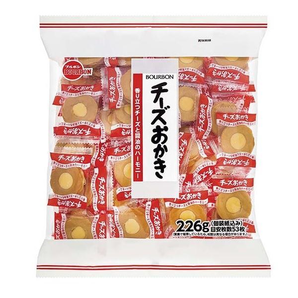 ブルボン チーズおかき 大袋 230g 約52枚前後 徳用ファミリーサイズ