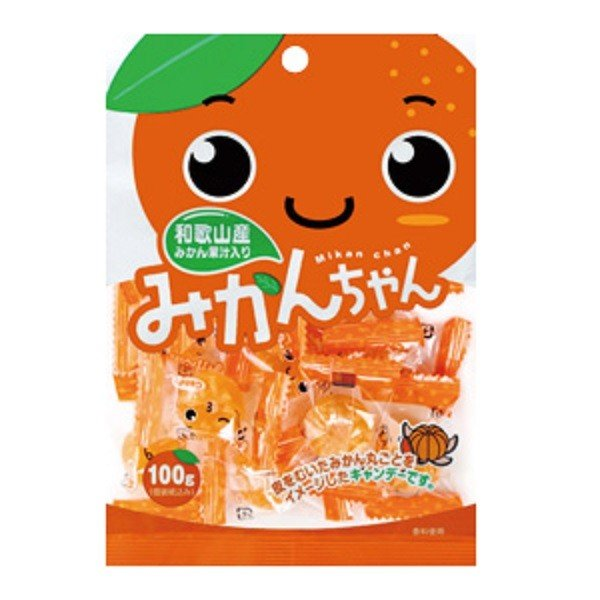 【川口製菓】みかんちゃん 100g×1袋   オレンジキャンデー あめ アメ 飴