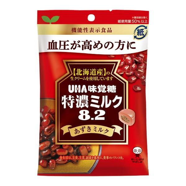 特濃ミルク8.2 あずきみるく 93g×30袋 UHA味覚糖 血圧が高めの方に 機能性表示食品